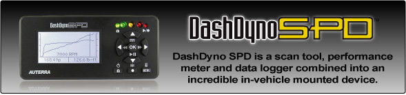 DashDyno SPD is a scan tool, performance meter and data logger.