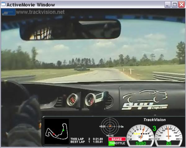 TrackVision software with Auterra DashDyno SPD data logger.
